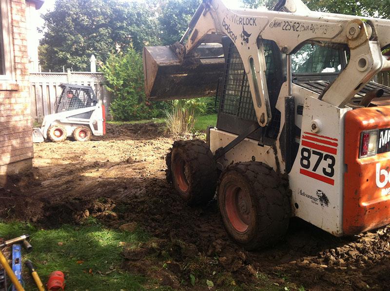 Backyard Excavation - Mr. Interlock