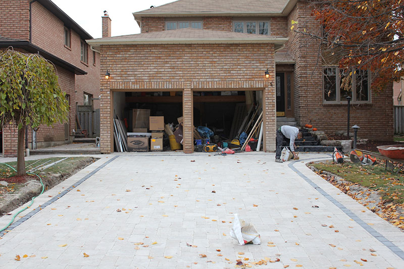 Full Project: Driveway, Front Entrance, Backyard Patio & Decorations ...